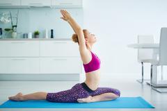 Stretching exercise - stock photo