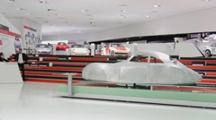 Interior And Exhibits Of Porsche Museum - stock footage