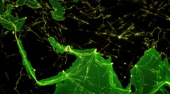World connections. Middle East. Green. Locked. More options in my portfolio. Stock Footage