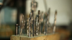 Drill set for metal Stock Footage