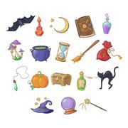 Haloween and Game Icon Vector Set - stock illustration
