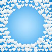 Blue Valentines day background Stock Illustration