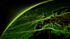 Earth connections. From Europe to Asia. Green. More options in my portfolio. Stock Footage