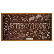 School board doodle with astronomy symbols. Vector illustration - stock illustration