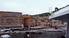 Port of Villefrance, shot from tender Stock Footage