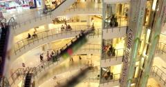 Shopping mall pedestrian - stock footage