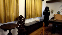 Room in Pelisor Castle, Sinaia Stock Footage