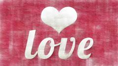 Heart and Love stylish retro animation Stock Footage