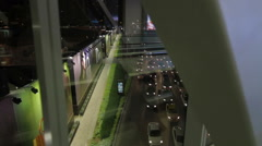 DUBAI, UNITED ARAB EMIRATES - June 2013: View from MTR track and station system Stock Footage