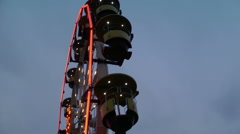 Caroussel in  amusment park Stock Footage