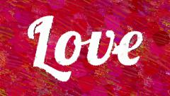 Word Love abstract artistic animation Stock Footage