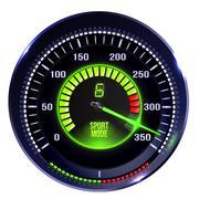 Vector illuminated speedometer Stock Illustration