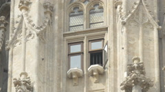 An open window on the facade of St. Stephen's Cathedral, Vienna Stock Footage