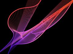 Dynamic and Bright Linear Spiral with Colorful Gradient - stock illustration