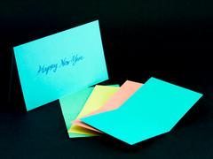 Message Card for Your Family and Friends; Happy Hew Year - stock photo