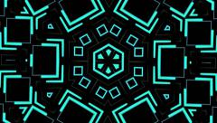 Visual Loops Kaleidoscope Digital Vj Motion Background - stock footage