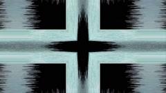 Vj Loop Distorted  Cross Background visual Stock Footage