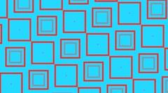 Vj Loop Animation Geometric Squares Visual Slow Motion Background - stock footage