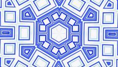 Stock Video Footage of Visual Loops Kaleidoscope Digital Vj Motion Blue On White Background