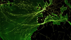 World connections. Europe. Green. More options in my portfolio. - stock footage