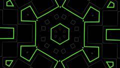 Visual Loops Kaleidoscope Digital Vj Motion Green Background - stock footage