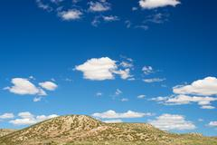 Arid landscape in Zaragoza Province, Aragon, Spain. - stock photo