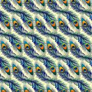 Beautiful pattern with peacock feathers Stock Illustration