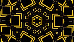 Visual Loops Kaleidoscope Yelow Digital Vj Motion Background - stock footage
