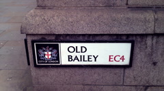 Old Bailey Street Sign London Stock Footage