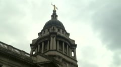 Lady Justice on top of the Old Bailey Stock Footage