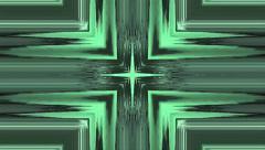 Vj Loop Distorted  Cross Green Background visual Stock Footage