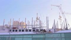 Volume travel on the building site Stock Footage