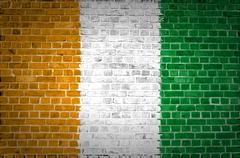 Brick Wall Ivory Coast - stock photo