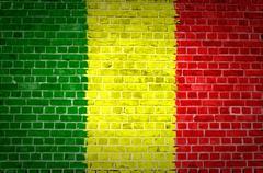 Brick Wall Mali - stock photo