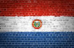 Brick Wall Paraguay - stock photo