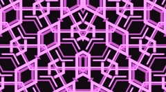 Vj Loops Geometric Abstract Pink Visuals Art Backgrounds - stock footage
