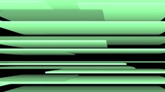 Stock Video Footage of Vj Loops 3D Stripes Slow Animation Background Green Version