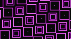 Vj Loops Animation Geometric Slow Motion Squares Visual Background Purple - stock footage