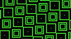 Vj Loops Animation Geometric Squares Visual Background Green Stock Footage