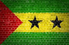 Brick Wall Sao Tome and Principe - stock photo