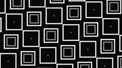 Vj Loops Animation Squares Visual Background Black And White - stock footage