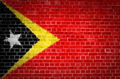 Brick Wall Timor-Leste - stock photo