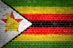 Brick Wall Zimbabwe - stock photo