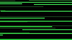 Vj Loops Stripes Electronica Music Art Green Motion Background - stock footage