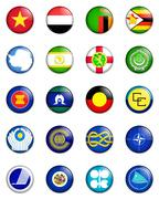 Flags of the world - stock illustration