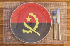 Dinner plate for Angola - stock photo