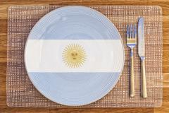 Dinner plate for Argentina - stock photo