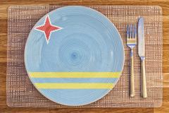 Dinner plate for Aruba Stock Photos