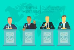 International Assembly, the policy of government, nation, president - stock illustration