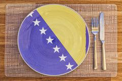 Stock Photo of Dinner plate for Bosnia and Herzegovina